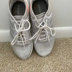 Gray & pink Adidas sneakers *pre-owned*